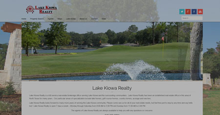 Lake Kiowa Realty New Website