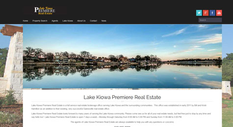 Lake Kiowa Premier Real Estate Website