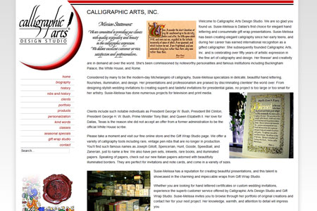 Calligraphic Arts Design Studio Dallas Texas