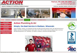 I Want Action Now Plumbing Website
